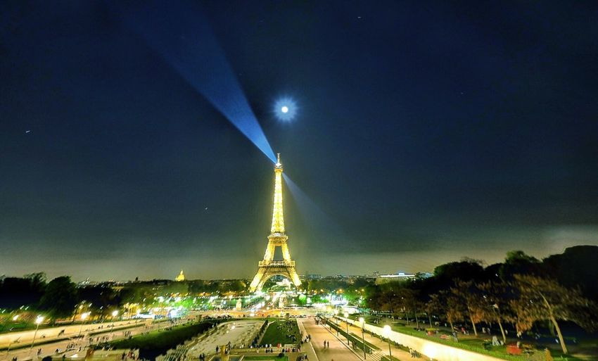 Everything you can see is beauty Eiffel Tower By Night Full Moon Night  Lovely Paris Lost In The Landscape