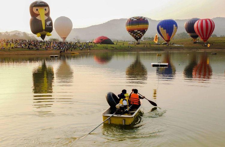 Balloonfiesta  Balloons🎈 Riverside Festival Chiangrai,Thailand Boonrawd Farm