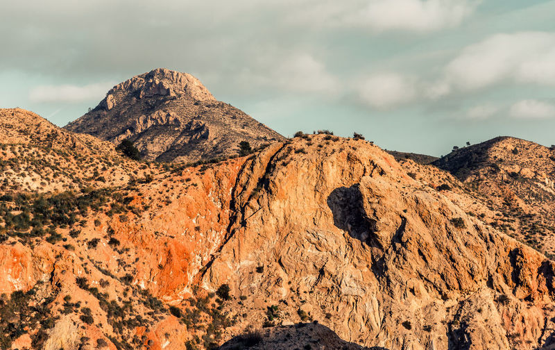 Monnegre canyon in Alicante. Spain Alicante, Spain Arid Climate Canyon Cliff Climbing Cloudy Sky Europe Geology High Mountains Hiking Landscape Monnegre Mountain Range Nature Nobody Range Ridge Rock Formation Rocky Mountains Route SPAIN Sunlight Sunny Day Travel Destinations Valley