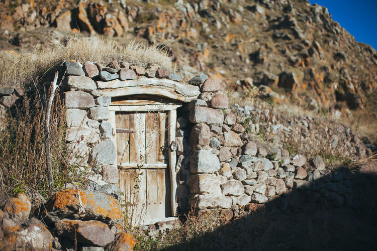 Old abandoned house in remote armenian village near Sevan lake Abandoned Places Armenia Hobbit House Nature Stoned Abandoned Adventure Closed Hidden House Nature Old House Outdoors Remote Rock - Object Village