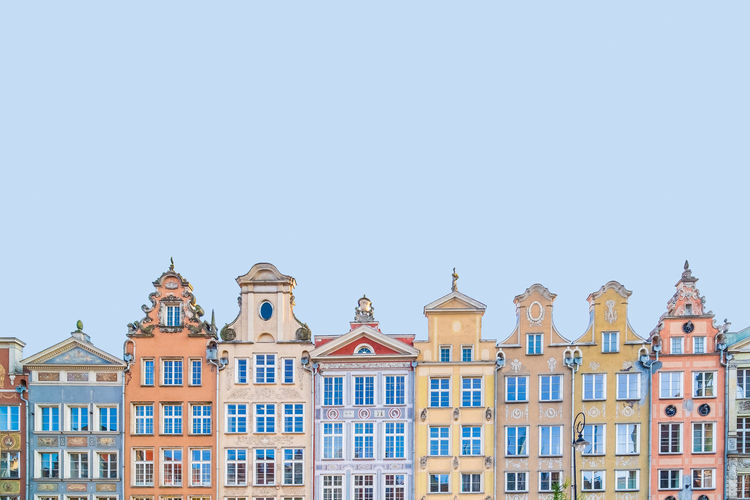 Colourful facades in gdansk