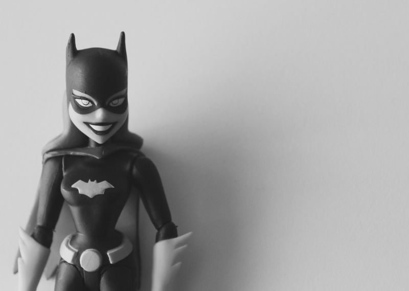 Batgirl Batgirl Batman Girls Fantasy Toys Imagination Blackandwhite