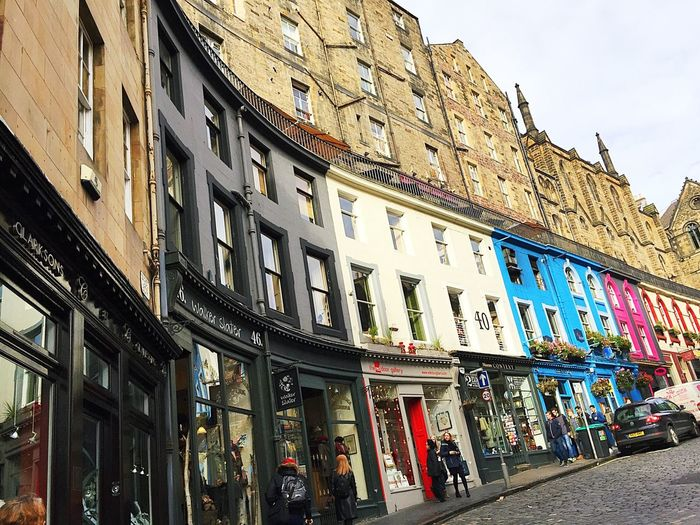 Edinburgh Edinburgh, Scotland Edinburgh Streets Building Exterior Street  Low Angle View City Life Street Photography