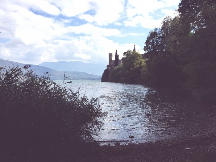 Abbaye Hautecombe Water Sky Tranquility Cloud Waterfront Landscape_Collection Landscape Lakeside Lake Lacdubourget