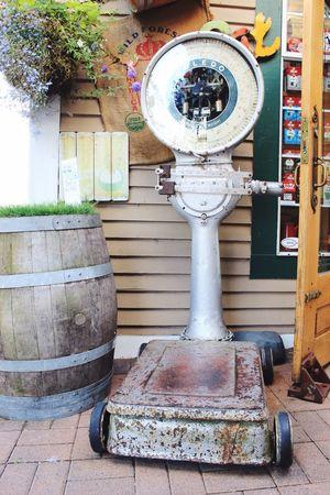 Scale  Weighing Scale Outdoors Steveston Village Steveston