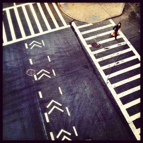 Crossing The Street Streetphotography Looking Down Urban Geometry