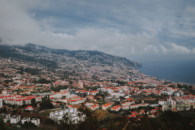Madeira Madeira Island Portugal High Angle View TOWNSCAPE House Community Crowded Residential District Building Exterior Architecture City Nature Cityscape Mountain Amazing