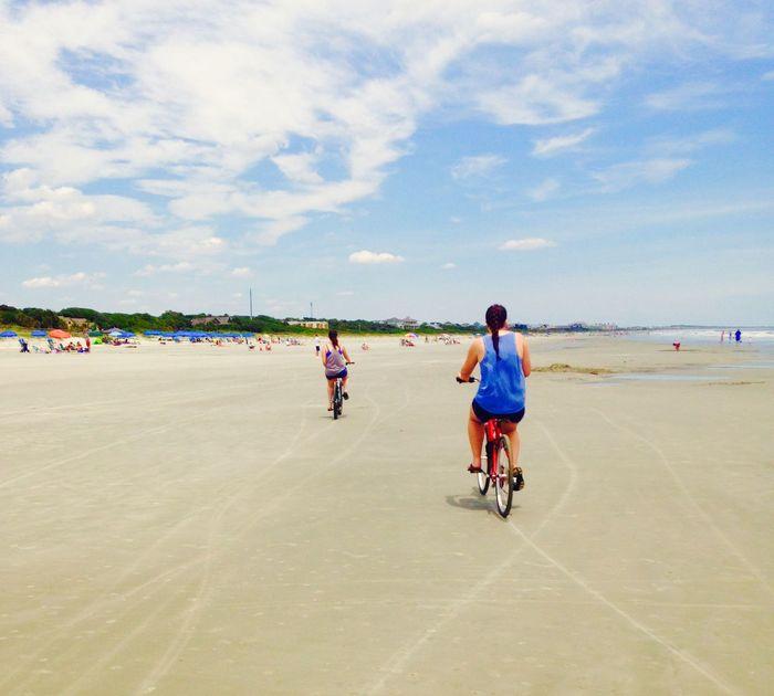 Kiawah Island Bike Riding Biking On The Beach South Carolina Beachphotography Life Is A Beach Great Day 😀😀👌👌 Biking