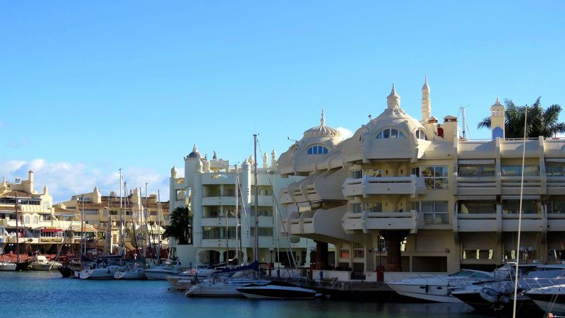 Puerto Marina - Benalmádena Water Sea Harbour View Vacaciones🌴 Travel Destinations Coast Seascape Religion Architecture Sky Place Of Worship Outdoors Day No People