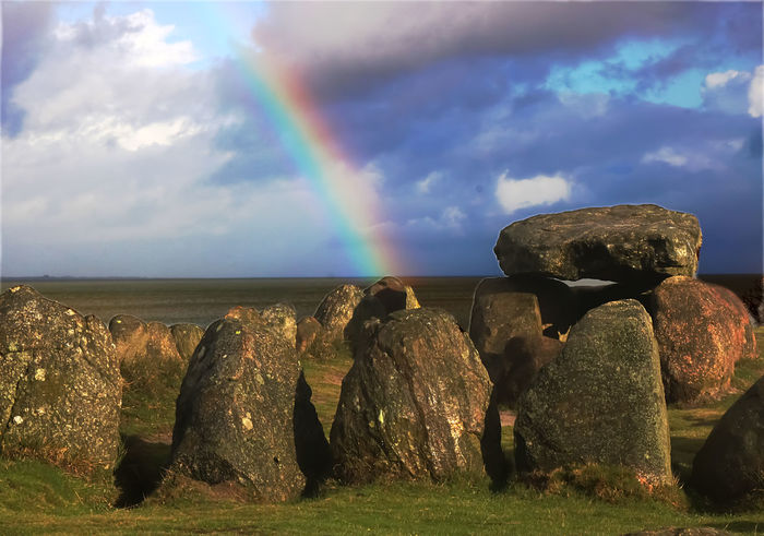Cloud - Sky Giant's Tomb Magalithjic Tomb Nature Prehistoric Grave Rainbow Rock - Object Sky