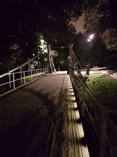 Street Light Railing Illuminated Night Connection Tree Lighting Equipment Bridge - Man Made Structure Footbridge The Way Forward Narrow Walkway Footpath Steps Bridge Diminishing Perspective Suspension Bridge Long Surface Level Outdoors In Front Of Pokémon Go Gym Oslo, Norway City Life