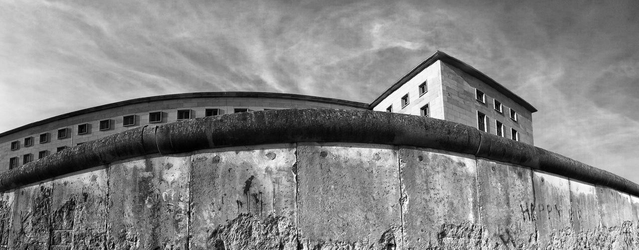 Low angle view of berlin wall