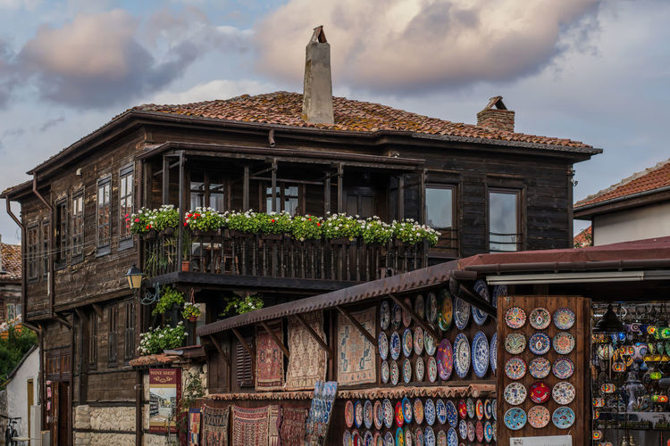 Architecture Balcony Building Exterior Built Structure Bulgaria City Cloud - Sky Day House Low Angle View Nessebar No People Outdoors Roof Sky Wisdom