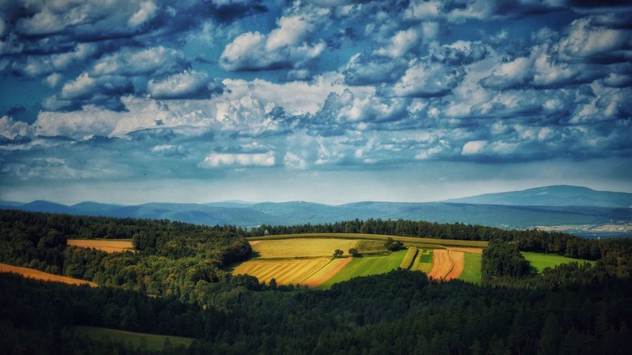 Landscape Tranquil Scene Scenics High Angle View Agriculture Mountain Beauty In Nature Rural Scene Cloud - Sky Non-urban Scene Mountain Range Field Landscape Photography Melancholic Landscapes A Photo Like A Painting Austria Landscape_photography Global Photographer-Collection Vienna Alps Capture The Moment A Bird's Eye View
