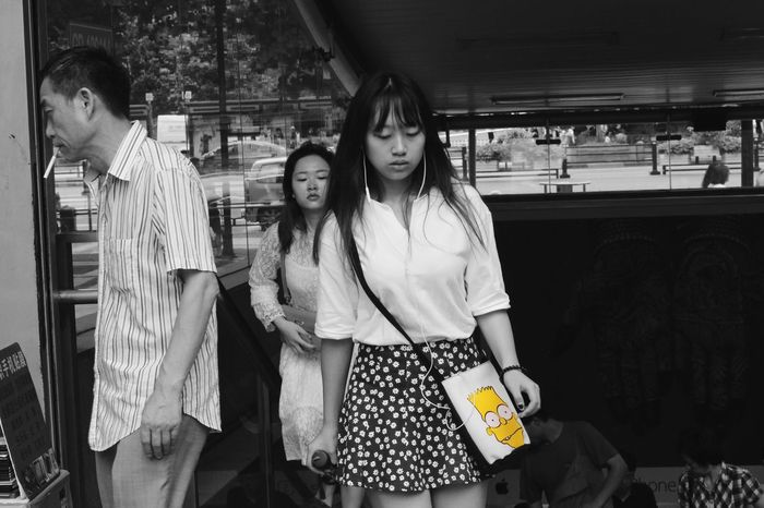 We all need some little things to light up our life. Hanging Out Streetphotography Street Photography Blackandwhite Black And White Black & White Comic Simpsons Color Colors Contrast Monochrome People Eye4photography  Shanghai EyeEm China EyeEm Best Shots EyeEm Best Edits EyeEmBestPics