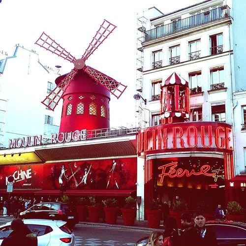 Moulinrouge Travel Destinations Red Outdoors City Day Building Exterior Amazing View 2017 Paris ❤ Lovelovelove Aroundtheworld Taking Photos Dreamcometrue Travel Paris Je T Aime
