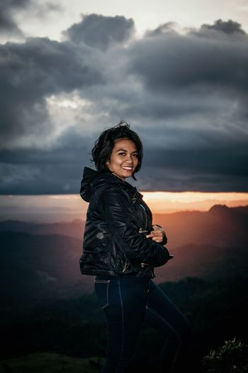 Timornese girl bathed with sunset light INDONESIA Timor Sky Cloud - Sky One Person Young Adult Standing Sunset Beauty In Nature International Women's Day 2019