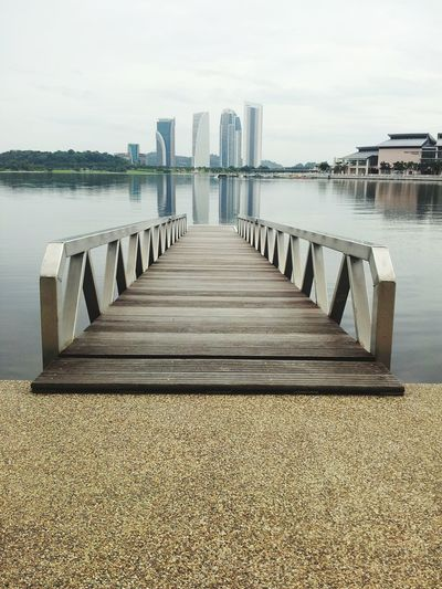 The jetty to Pullman Lake, near Pullman Hotel Putrajaya. Putrajaya Reflection Lake Pullman Hotel Long Jetty Architecture