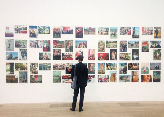 piece(s) of art. Photograph Full Length Standing Watching TateModern Tate London London Lifestyle Gallery Art Art Is Everywhere Photography Indoors  Modern Art Londoner Exhibition One Man Only Dressed Up Businessman Postcode Postcards
