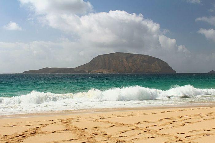 Beach Sea Island Montaña Clara La Graciosa Lanzarote Island Canary Islands