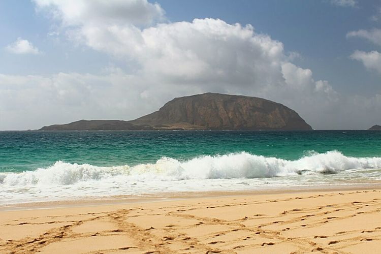 Beach Sea Island Montaña Clara La Graciosa Lanzarote Island Canary Islands