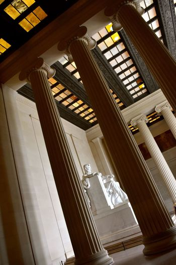 Abraham Lincoln Statue Historical Building Historical Monuments Lincoln Memorial Lincoln Memorial, Washington DC Travel Travel Photography USA Abraham Lincoln Architecture Built Structure Historical Low Angle View No People Stone Pillars Travel Destinations