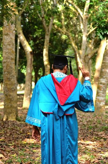 Highlight of his life IIUM Gombak IIUM Graduation Convocation EngineeringStudent Unemployed Potrait Potrait_photography Robe Tree Forest Photography Malaysia Truly Asia Rear View WoodLand Outdoors Forest Nature Nikonphotography Nikon D5100  Tamron70_300mm