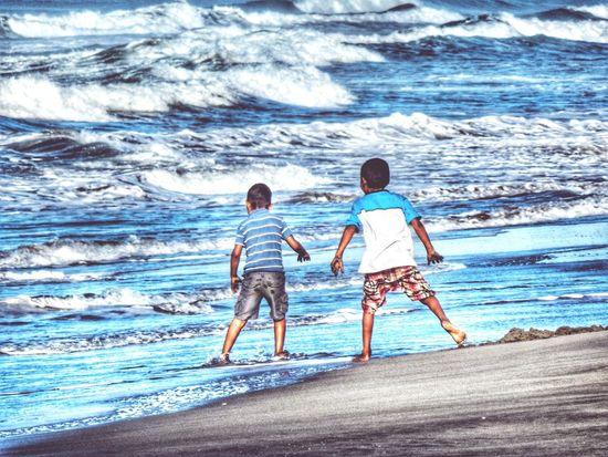 Acapulco Playa Beach Kids Mexico