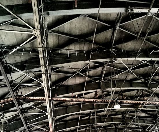Metal Full Frame Backgrounds No People Day Indoors  Close-up Roof Architecture Built Structure Steal Hangar Texture High Contrast Background Industrial Old Buildings Old Architecture