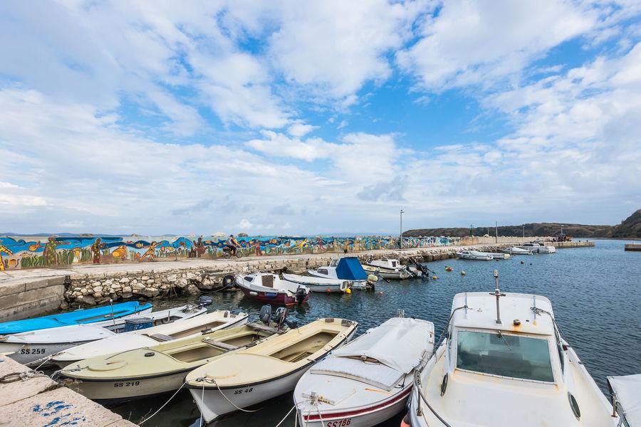 Blue Boat Croatia Harbor Mali Lošinj Mode Of Transport My Commute My Commute-2016 EyeEm Photography Awards Nautical Vessel Sea Sky Susak Travel Destinations Water