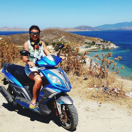Summer ☀ Türkiye Avsaadasi Motorcycle Lovelovelove Blue