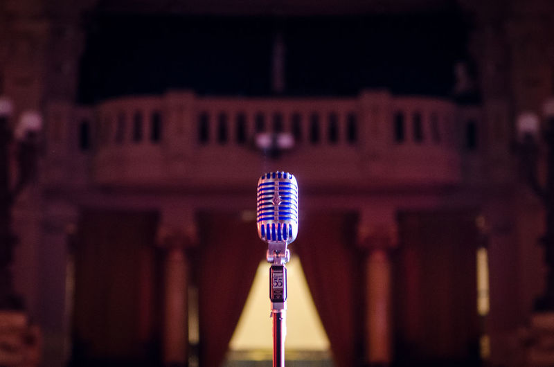 Close-Up Of Microphone On Stand