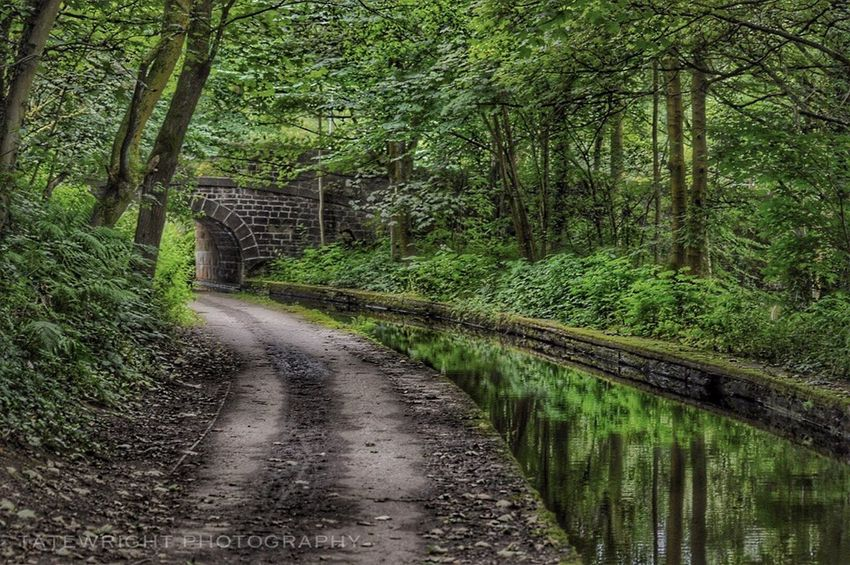 Landscape_Collection Saddleworth Canals And Waterways Uppermill Reflections In The Water