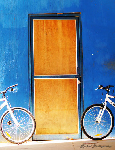 Bicycle Parking Stationary Architecture Vibrant Color Outdoors Parked Symmetry Streetphotography