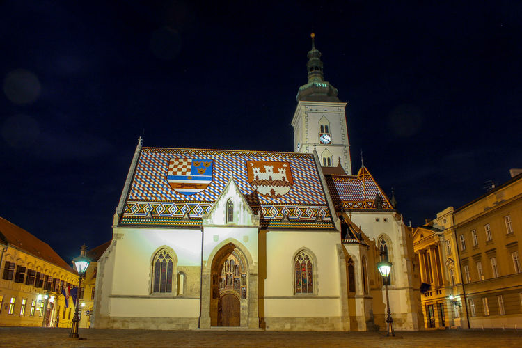 st. marks church Croatia ❤ Croatiafulloflife Croatia ♡ Zagreb Zagreb, Croatia Zagreb Night Crkva Svetog Marka St. Mark's Square St. Mary's Church City Illuminated Politics And Government Religion Sky Architecture Building Exterior Built Structure Place Of Worship Historic Church Christianity Catholicism