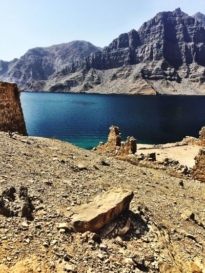 Dry Land Clear Water Musandam Oman Musandam Oman_photography Taking Pictures Wild Places Check This Out IPhoneography Oman Crystal Clear Waters Amazing View Historical Place