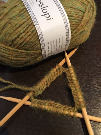 Close-up No People Indoors  Table Knitting Needle Day Animo Green Homemade Kitten Slow Life Socks