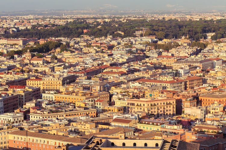 Rome city from st. peter's basilica