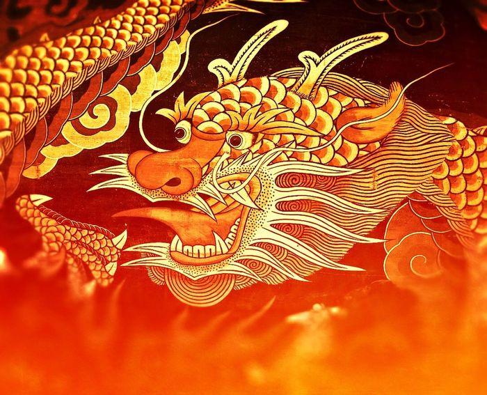 Dragon Gyeongju Bulguksa Drum Buddhist Temple Creative Photography Fire Korean Traditional Culture