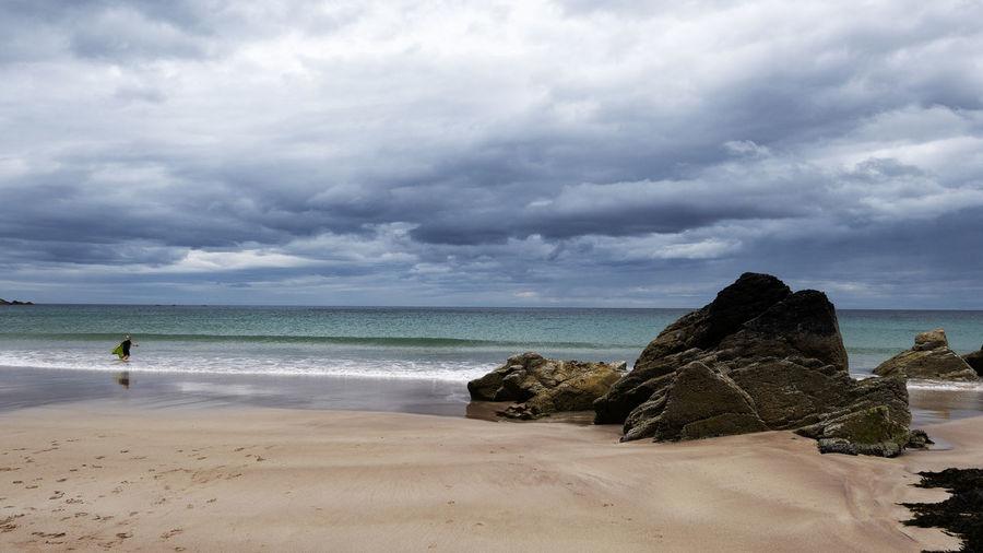Sea Water Sky Beach Horizon Over Water Cloud - Sky Sand Dark Sky Scotland Scottish Beaches Amazing View