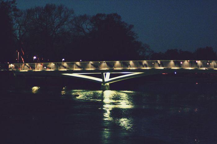 Night Bridge - Man Made Structure Reflection Water Outdoors Eskilstuna Eskilstna Gatufoto