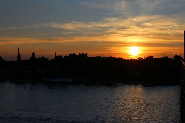Ruhrpottromantik Silhouette Sky Sunset Orange Color Homberg Ruhrort