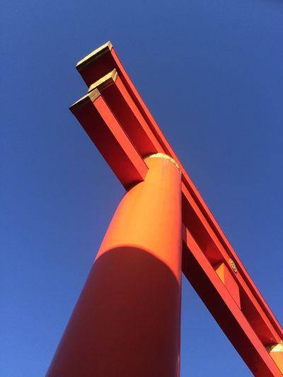 Kyoto, Japan Red Gate Blue Sky