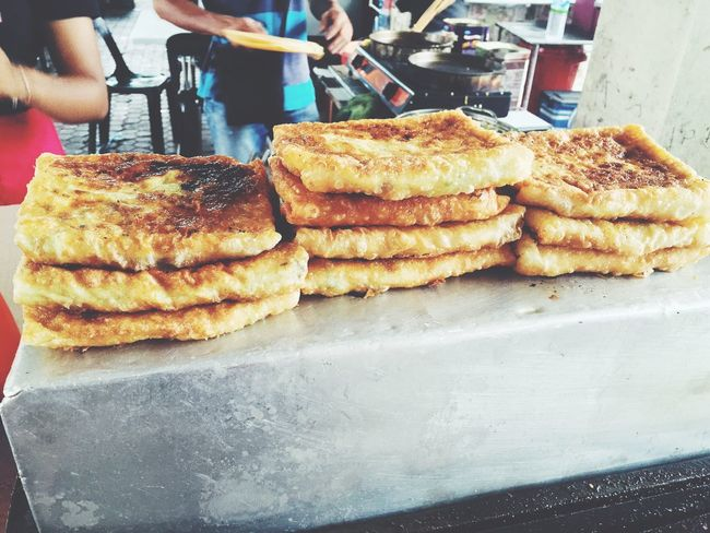 Whenever I'm back to hometown in Kota Kinabalu . This is the must Street Food . Locally known as Murtabak. It differs from place to place. For me this is the best version of it. Snack Time! Food Must Try Street Food Worldwide Asian  Fresh On Eyeem  The Week Of Eyeem Showcase: May EyeEm Best Shots IPhoneography The Street Photographer - 2016 EyeEm Awards The Photojournalist - 2016 EyeEm Awards Photo Journalism