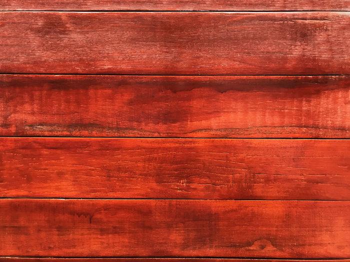 Full frame shot of red wood