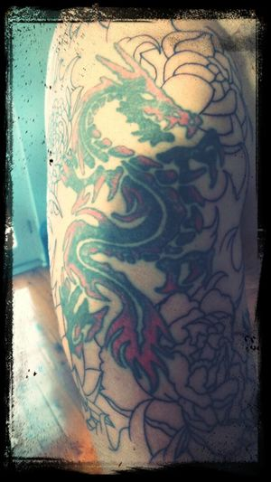 first stage of renewing this ugly duckling Tattoo Japanese Style Old And New