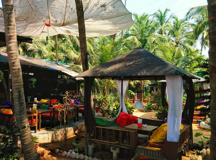 Tree Beach Shelter Thatched Roof Hanging Sky Parasol Canopy Outdoor Cafe Resort Sunshade Awning Hammock Gazebo It's About The Journey