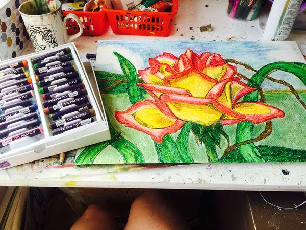 Art, Drawing, Creativity Wax Pencil rose