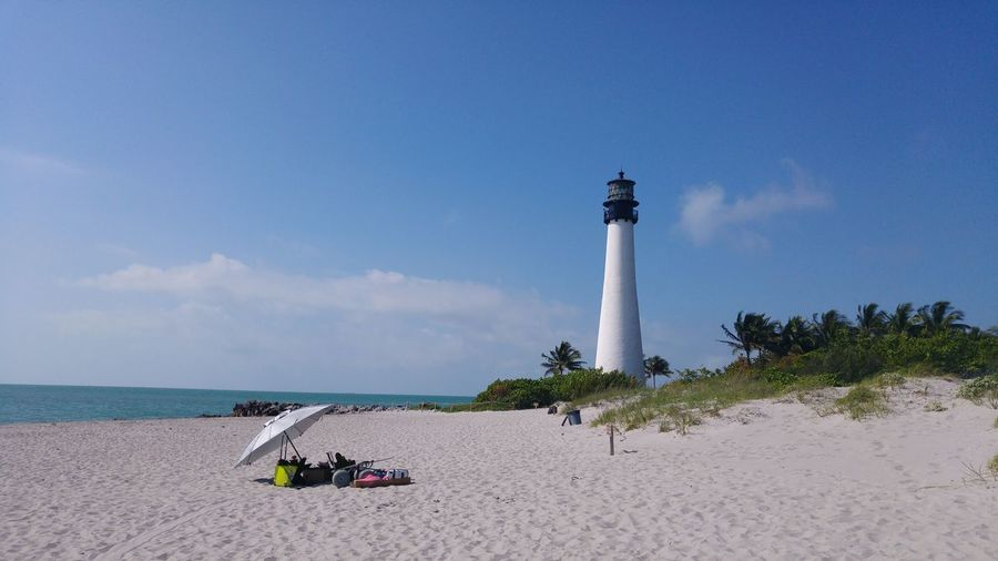 Enjoying The Sun Beach Lighthouses Key Biscayne Florida Places You Must To See Trip Adventure Scene Peace Photography Exploring Stockphoto Stockphotography Check This Out Landmark Building Beach Photography