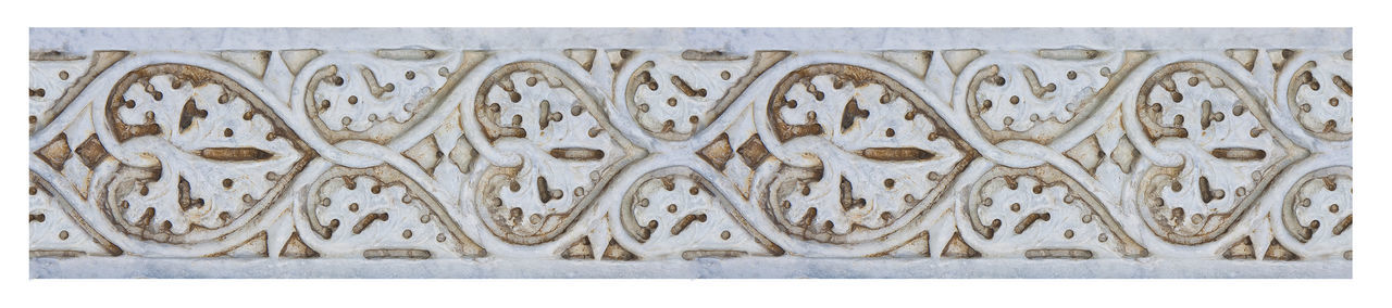 Old carved stone frame, on white background for easy selection, taken from the medieval frieze of the facade of Pisa Cathedral (Italy - Tuscany - Pisa city) Ancient Bas Relief Sculpture Ornate Stonework Romanesque Style Architecture Art And Craft Carving - Craft Product Close-up Detail Medieval Ornate Sculpture Seamless Pattern Seamless Pattern Background Stone Material Stone Material Stone - Object The Past The Past In The Present.